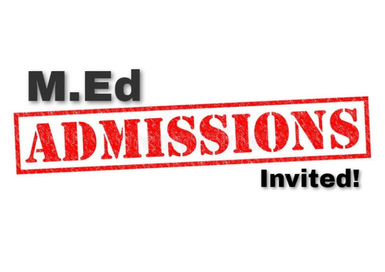 Admissions for M.Ed Open!